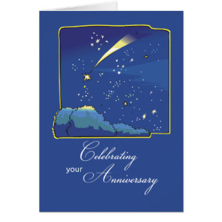 Adoption Anniversary with Stars and Night Sky Greeting Card