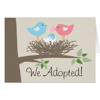 Adoption Announcement  - Bird's Nest Stationery Note Card