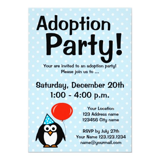 Adoption announcement party invitations