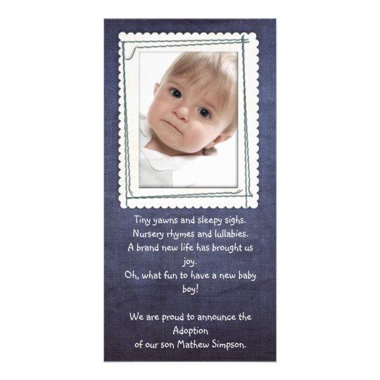 adoption announcement photocard card