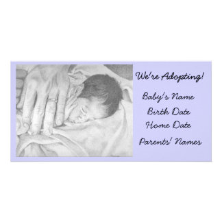 Adoption Announcement Sweet Dreams Photo Greeting Card