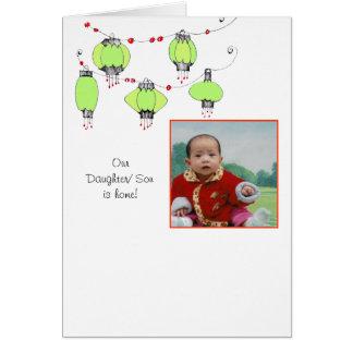 Adoption Announcement w/lanterns Note Card