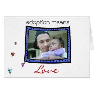 adoption/ baby  announcement card