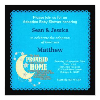 Adoption Baby Shower Boy 13 Cm X 13 Cm Square Invitation Card