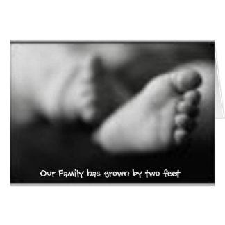 Adoption birth announcement greeting cards