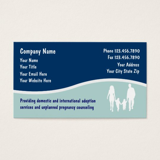 Adoption Business Cards