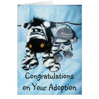 """ADOPTION"" CONGRATULATIONS GREETING CARD"