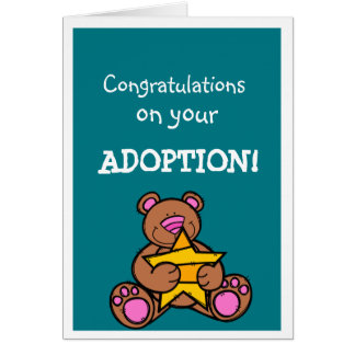 Adoption congratulations greetings card