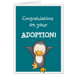 Adoption congratulations greetings greeting card