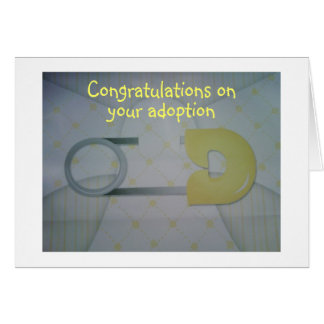 ADOPTION CONGRATULATIONS=LOVE & CUDDLES GREETING CARDS