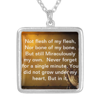 Adoption Creed Necklace Payer hands