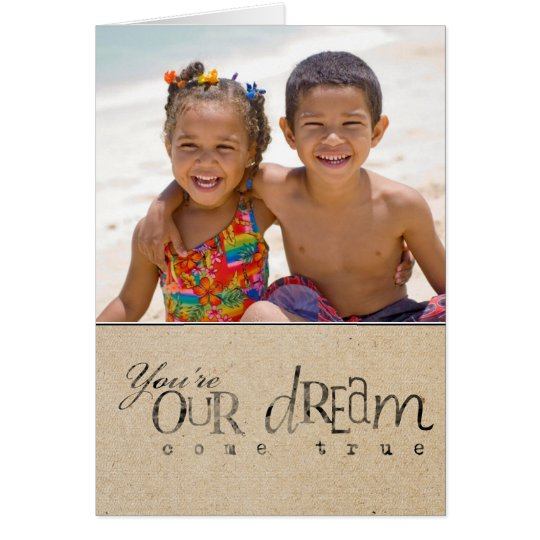 Adoption Day Announcement Photo Greeting Card