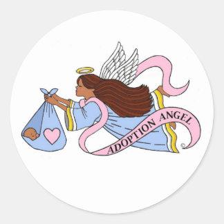 Adoption Ethnic Angel Sticker