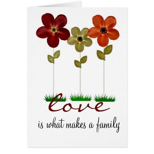 adoption family card