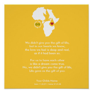 Adoption Gotcha Day - Commemorative Poem Poster