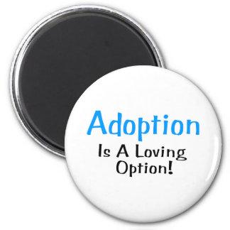 Adoption Is A Loving Option (blue) 6 Cm Round Magnet