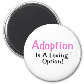 Adoption Is A Loving Option (pink) 6 Cm Round Magnet