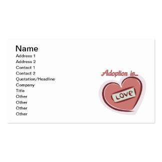 Adoption is Love Business Card Template