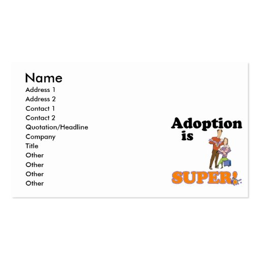 adoption is super business card templates