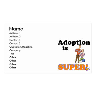 adoption is super pack of standard business cards