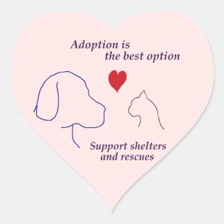 Adoption is the Best Option Heart Sticker