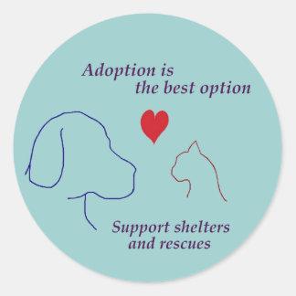 Adoption is the Best Option Round Sticker