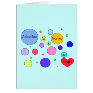 Adoption Journey of Heart Circles Greeting Card