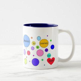 Adoption Journey of Heart Circles Two-Tone Mug