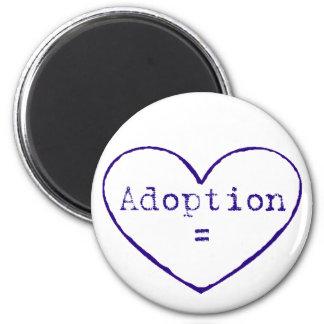 Adoption love in blue fridge magnet