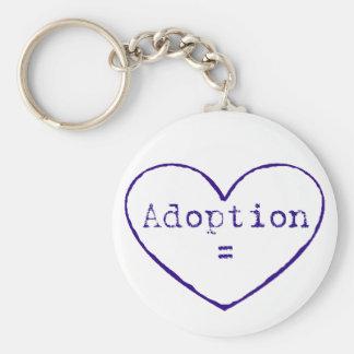Adoption = love in blue keychain