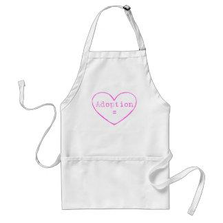 Adoption love in pink apron