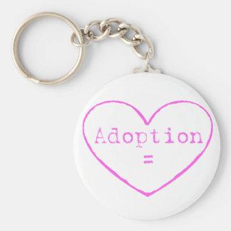 Adoption = love in pink keychains