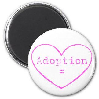 Adoption love in pink magnet