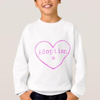 Adoption = love in pink sweatshirt