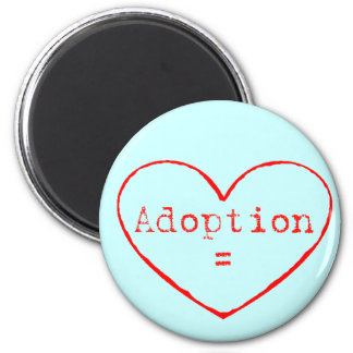 Adoption Love in red Refrigerator Magnets