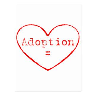 Adoption = Love Postcard