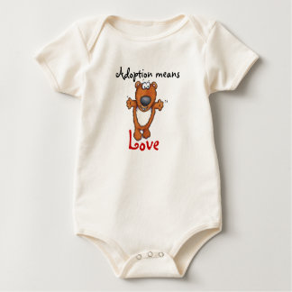 adoption means love baby bodysuit