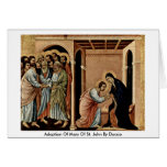 Adoption Of Mary Of St. John By Duccio Card