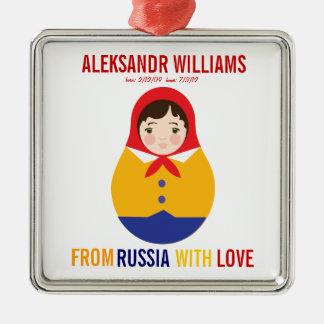 Adoption Ornament Russian Matryoshka Keepsake