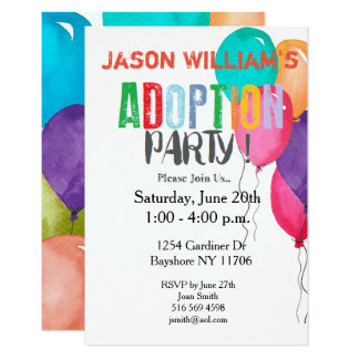 Adoption Party Collection Card