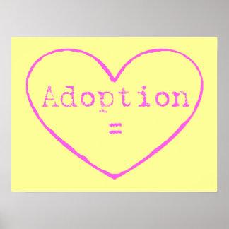 adoption = pink poster