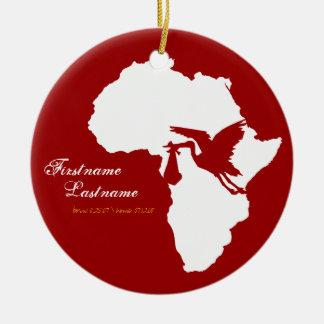 Adoption Stork Africa Ornament