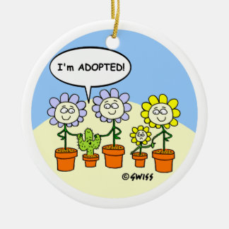 Adoption Theme Cute Cartoon Personalized Christmas Ornament