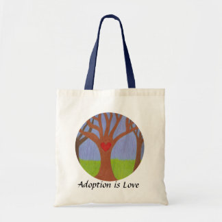 Adoption Tree Budget Tote Bag