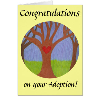 Adoption Tree Congratulations on your Adoption! Greeting Card