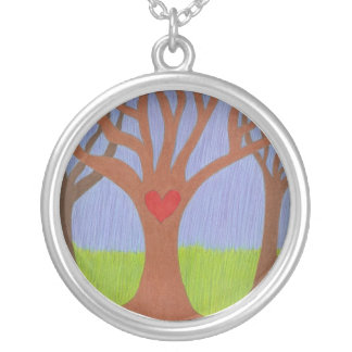Adoption Tree Round Pendant Necklace
