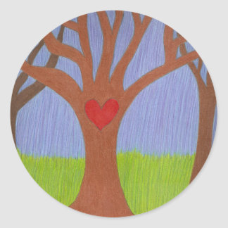 Adoption Tree Round Sticker