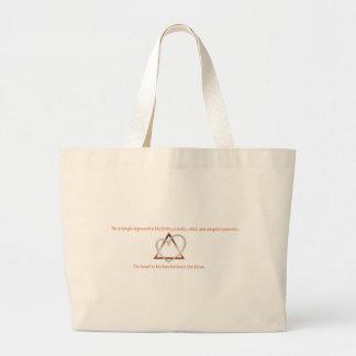 Adoption Triangle Large Tote Bag