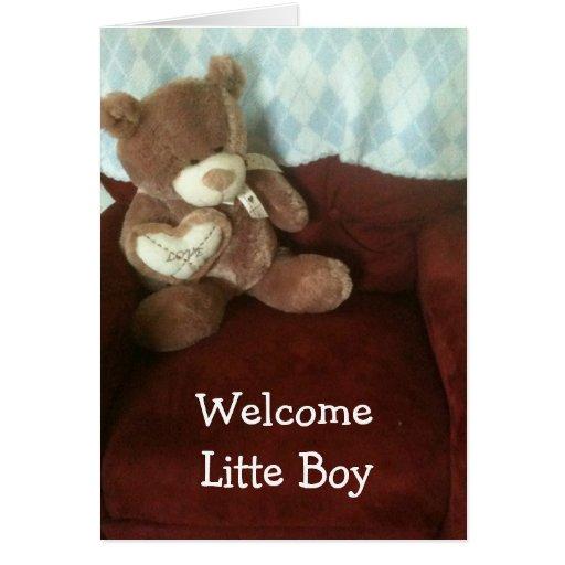 ADOPTION-WELCOME BABY BOY GREETING CARD