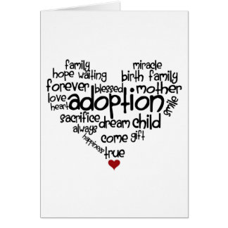 Adoption-words Card